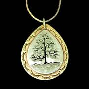 Tree of Life Silver Brass Pendant