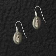 Lake Stone Leaf Earrings