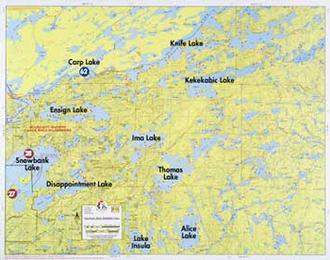 Fisher Maps F11 Snowbank Lake, Knife Lake, Kekekabic Lake