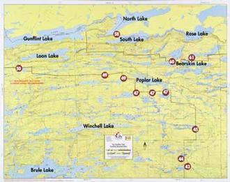 Fisher Maps F13 : Gunflint Lake, Bearskin