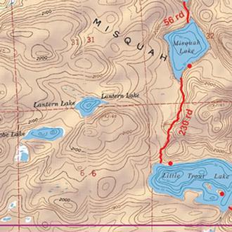 Mckenzie Maps M3 Ball Club, Winchell And Poplar Lakes
