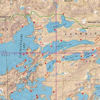 Mckenzie Maps M07 Little Saganaga, Tuscarora