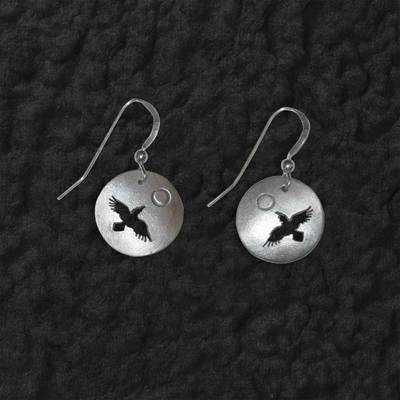 Raven Flying Shadow Earrings