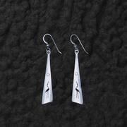 Heron Triangle Earrings