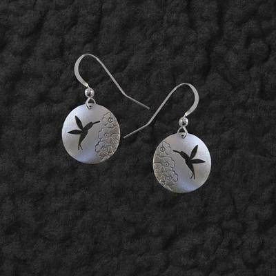 Hummingbird Shadow Earrings