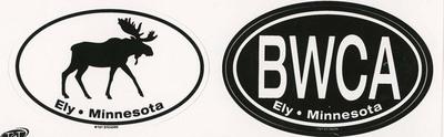 Moose Bwca Ely, Mn Twin Sticker