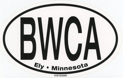 Bwca Ely, Mn Large Oval Sticker