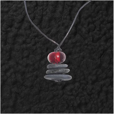 Stacked Stones With Bead Pendant