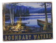 Boundary Waters Lake Canoe Fire Sign