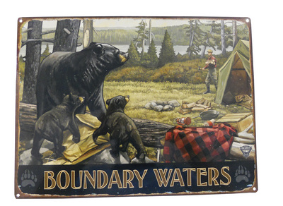 Boundary Waters Lake Camper Bear Sign
