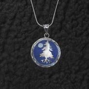 Tree Moon Lapis Pendant