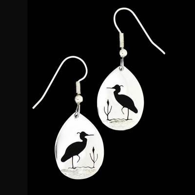 Heron In The Reeds Earrings