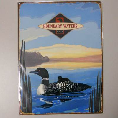 Boundary Waters Loons Metal Sign