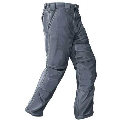 Piragis Nylon Zipper Leg Pant