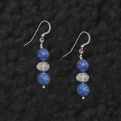 Lapis And Moonstone Earrings