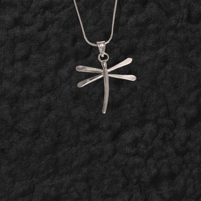 Large Sculpted Dragonfly Pendant