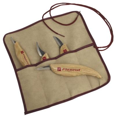 Flexcut Carving Set 4 Piece With Utensil Roll