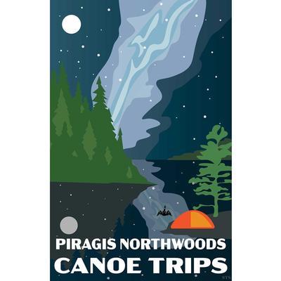 Night Sky Piragis Canoe Trips Poster Print 11x17