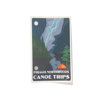 Canoe Trips Night Sticker 3x5