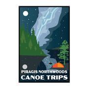 Night Sky Piragis Tin Sign 12X18