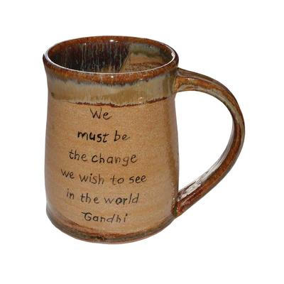 Short Mug With Gandhi Quote