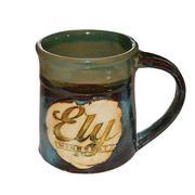 Ragged Ely Logo Mug Blue and Green
