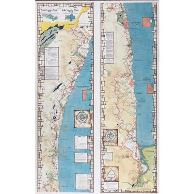 Myrmel Maps Map 8 Superior Hiking Trail Map