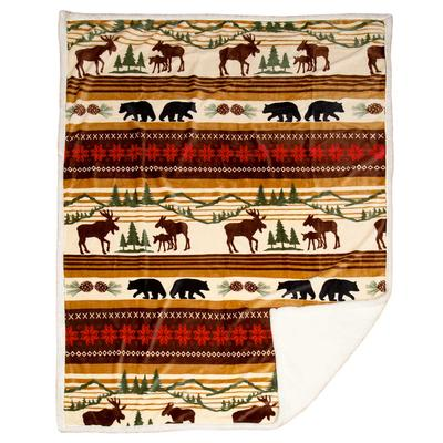 Hinterland Moose And Bears Throw