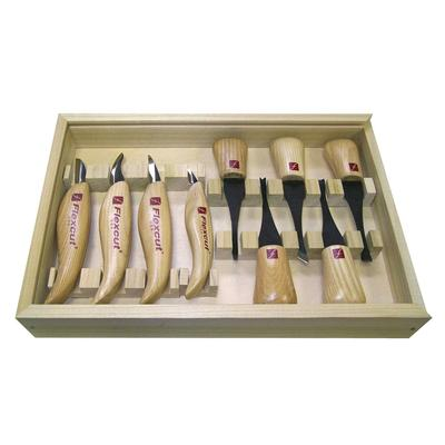 Flexcut Deluxe Palm And Knife Set