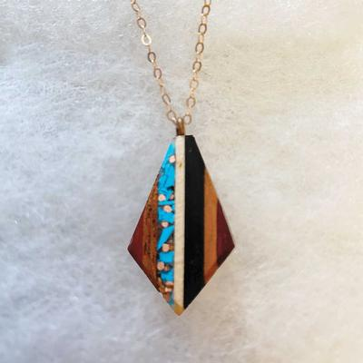 Recycled Copper And Turquoise Teardrop Pendant