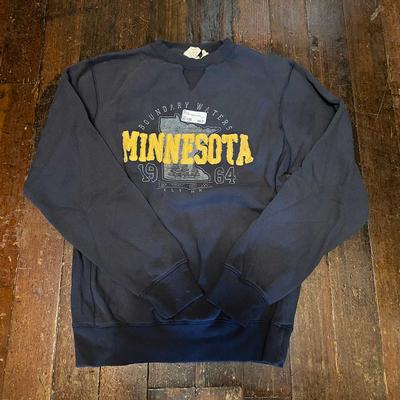 Gold Letter Minnesota Sweatshirt by Lakeshirts