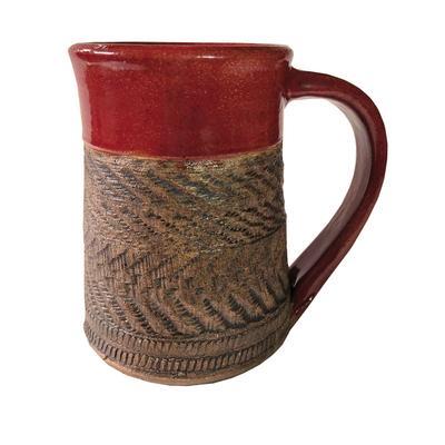 Red Carved Mug