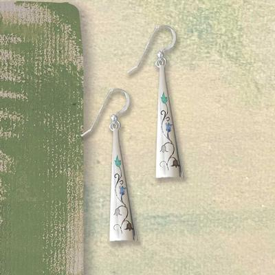 Triangle Floral Earrings