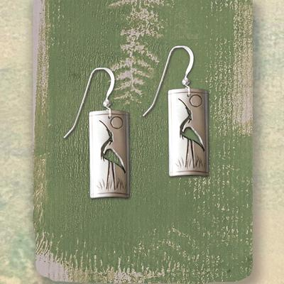 Crane Totem Earrings