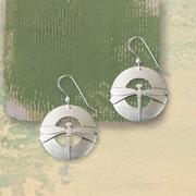 Large Circular Dragonfly Earrings