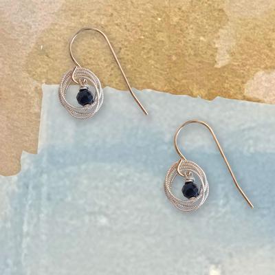 Sapphire & Silver Earrings