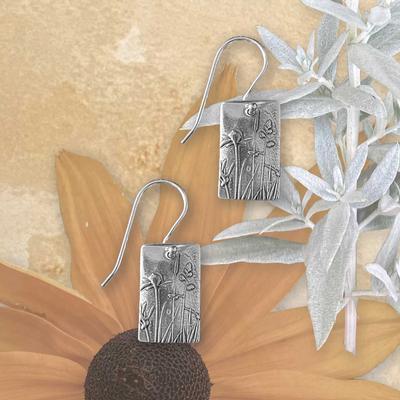 Wildflowers Rectangle Earrings